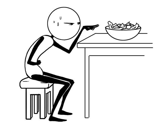 Запор + салат = противоположность здорового образа жизни