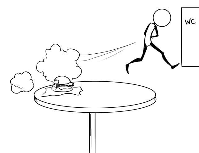 Фаст-фуд получил свое название из-за того, с какой скоростью он оказывает влияние на метеоризм