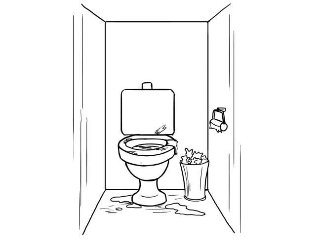 Общественный туалет как личный ад