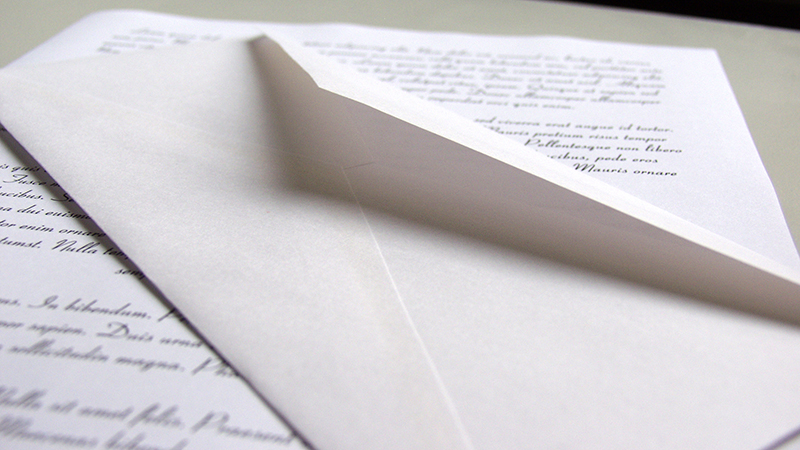 Письмо с конвертом